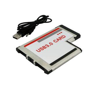 Eg-54mm-Express-Card-a-Doppio-Porte-USB-3-0-Adattatore-Convertitore-per