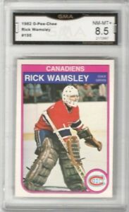 1982-83-O-Pee-Chee-195-Rick-Wamsley-RC-Graded-NM-MT-Montreal-Canadiens
