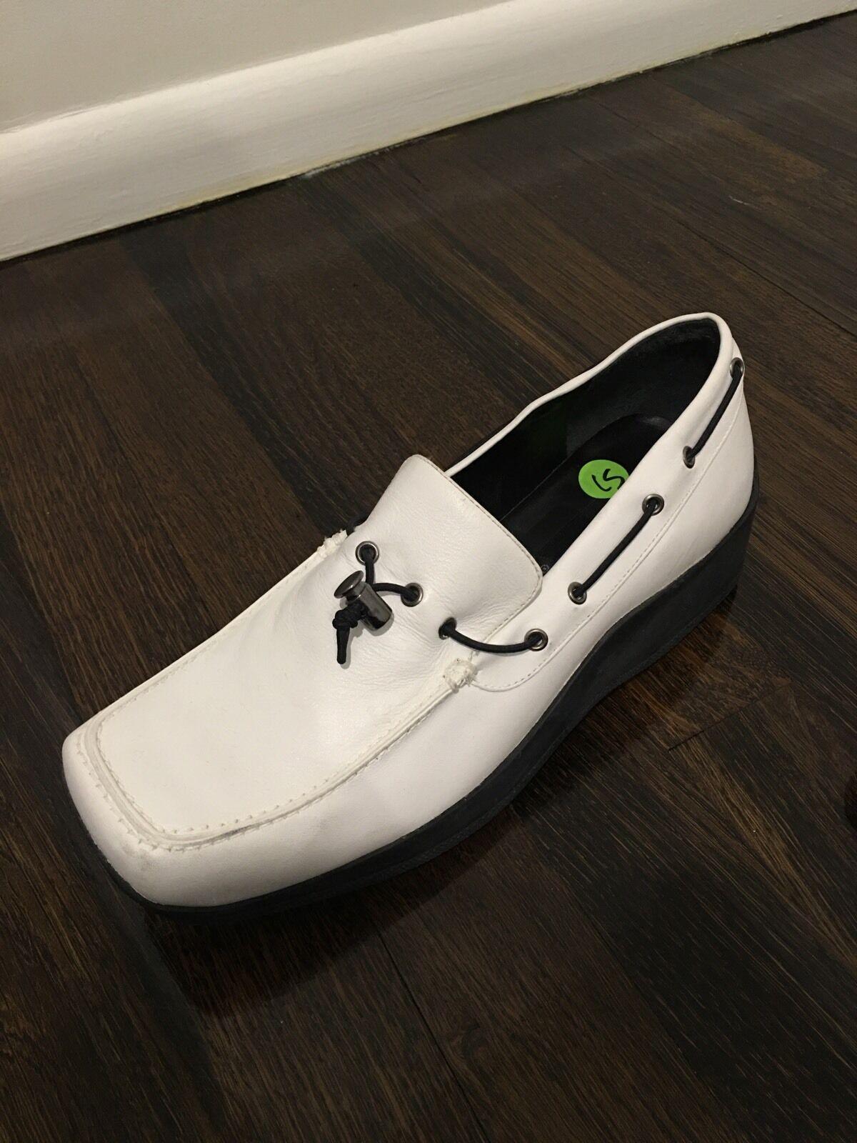 New Scarpe David Aaron bianca New Loafer Taglia 9 Pelle Scarpe New bianca 131b67 ... 722e36