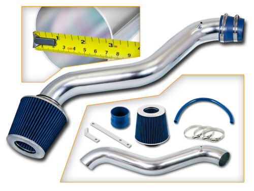 BCP BLUE 97-01 Prelude 2.2L L4 Short Ram Air Intake Induction Kit Filter