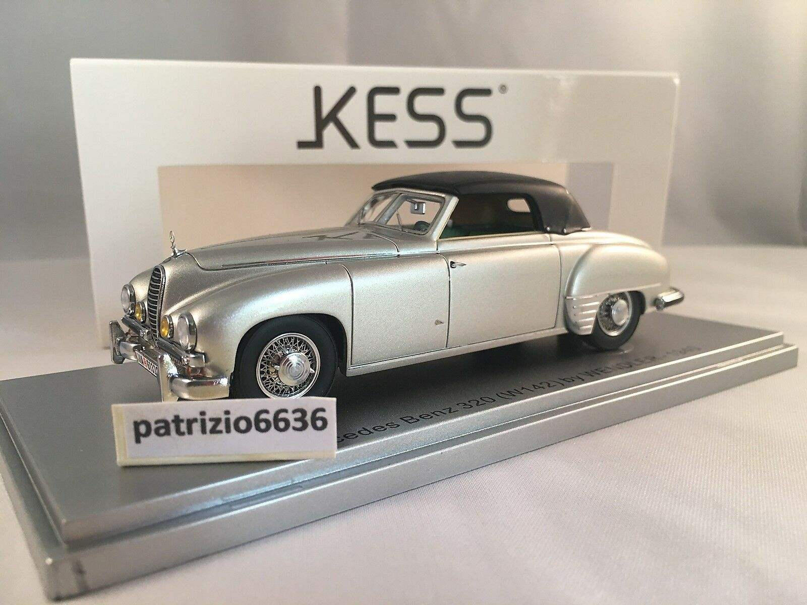 KESS MODEL 1 43 Mercedes Benz 320 Wendler Cabriolet Closed 1940 Art. KE43037001
