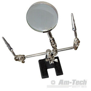 HELPING-HAND-TOOL-60MM-GLASS-6X-MODELLING-CRAFT-KIT-SOLDERING-IRON-MAGNIFYING