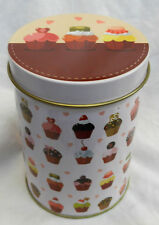 Cup Cake Design Metal Canister / Storage Tin - BNWT (B)