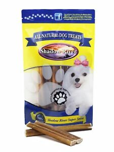 Shadow River 6 Inch REGULAR All Natural Premium Beef Bully Stick Dog Chew Treats