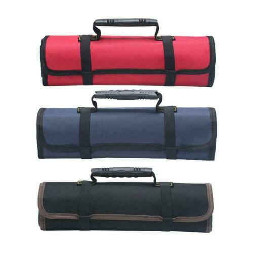 Electrician Tool Pocket Bag Roll Up Storage Organizer Bags Canvas Chisel Toolkit