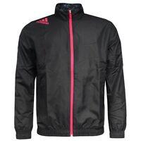 Adidas Performance Predator Mens Woven Polyester Black Jacket D85406 U60