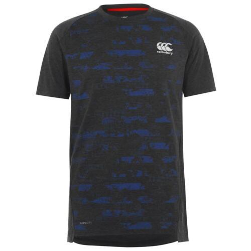 Canterbury Mens Podri T Shirt Short Sleeve Tee Top Crew Neck Lightweight Pattern