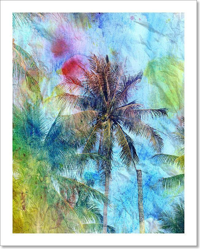 Abstract Tropical Landscape  Art Print Home Decor Wall Art Poster - F