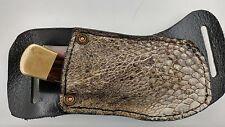 REAL Gator Alligator Pocket Knife Belt Sheath Right Pull  Buck 110 or Buck 112
