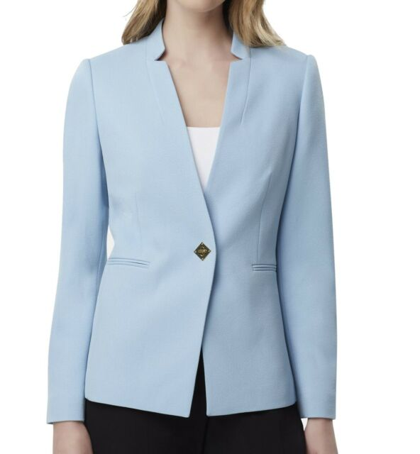 Tahari by ASL Women's Blazer Blue Size 14P Petite Turnlock Closure $139 #174