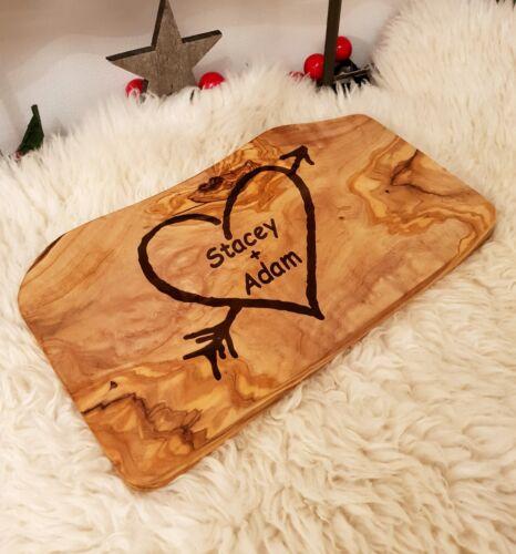 Personnalisée placage Serving Board Fromage Gravée Mariage Saint-Valentin pain