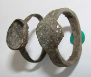 Ancient bronze rings 2 pieces Middle Ages original
