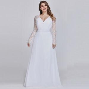 Ever-Pretty-Plus-Size-Wedding-Dress-Long-Sleeve-Lace-Evening-Dresses-White-08692