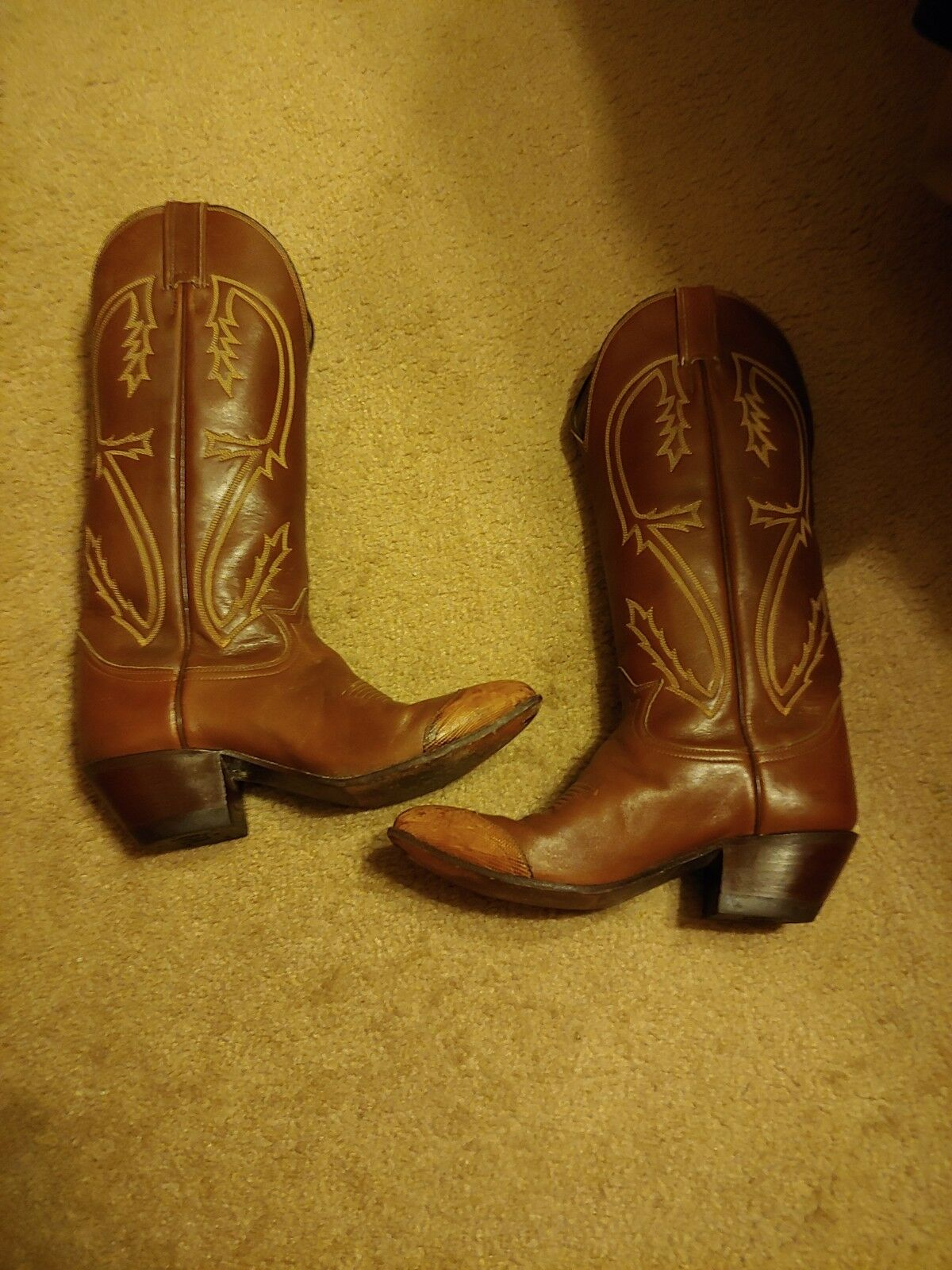 Tony Lama Women's Cowboy Cowboy Cowboy Boots golden Brown Leather Western Size 5 1 2 Beautiful 857876