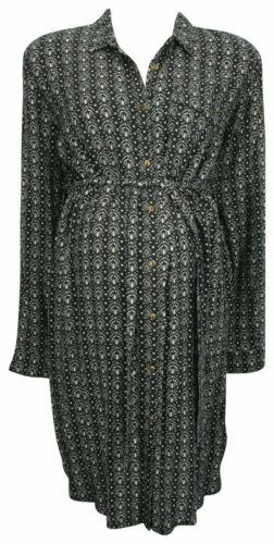 BLOOMING MARVELLOUS MATERNITY /& NURSING BLACK WHITE PRINT SHIRT DRESS 14 /& 16