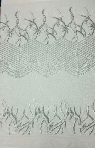 Designers Matte Sequin Fabric on Mesh