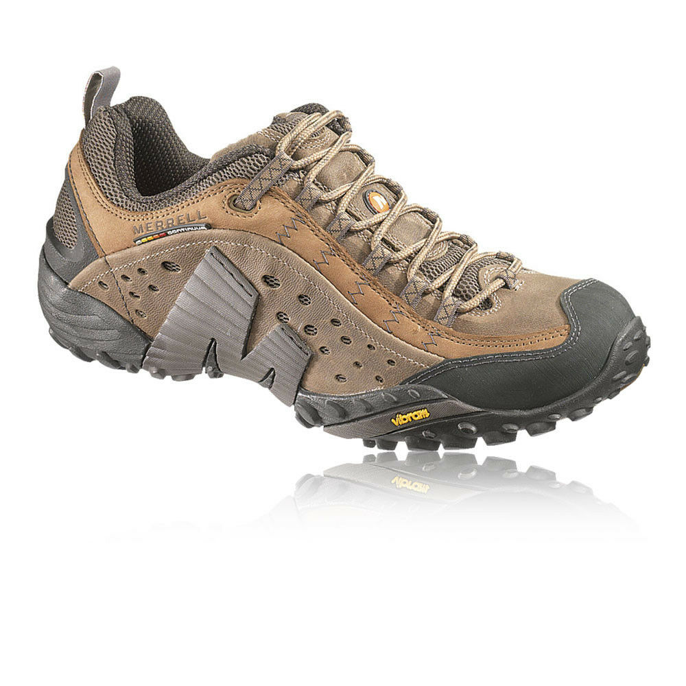 Merrell Mens Intercept Brown  Grain Leather Trail Outdoors Walking Hiking shoes  high quality & fast shipping