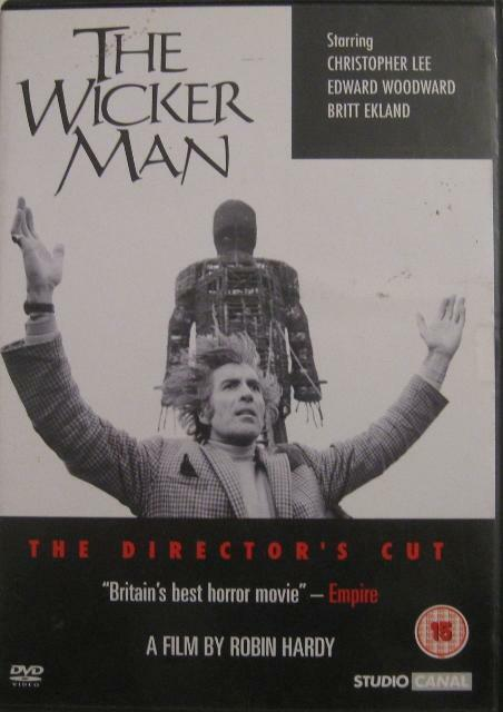 THE WICKER MAN Director's Cut Christopher Lee Cult UK Horror 2 Disc DVD *EXC*