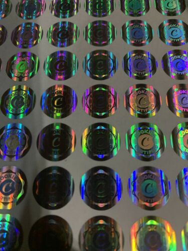 110pc Hologram Sticker For Cookies Bags No Bags Just Stickers