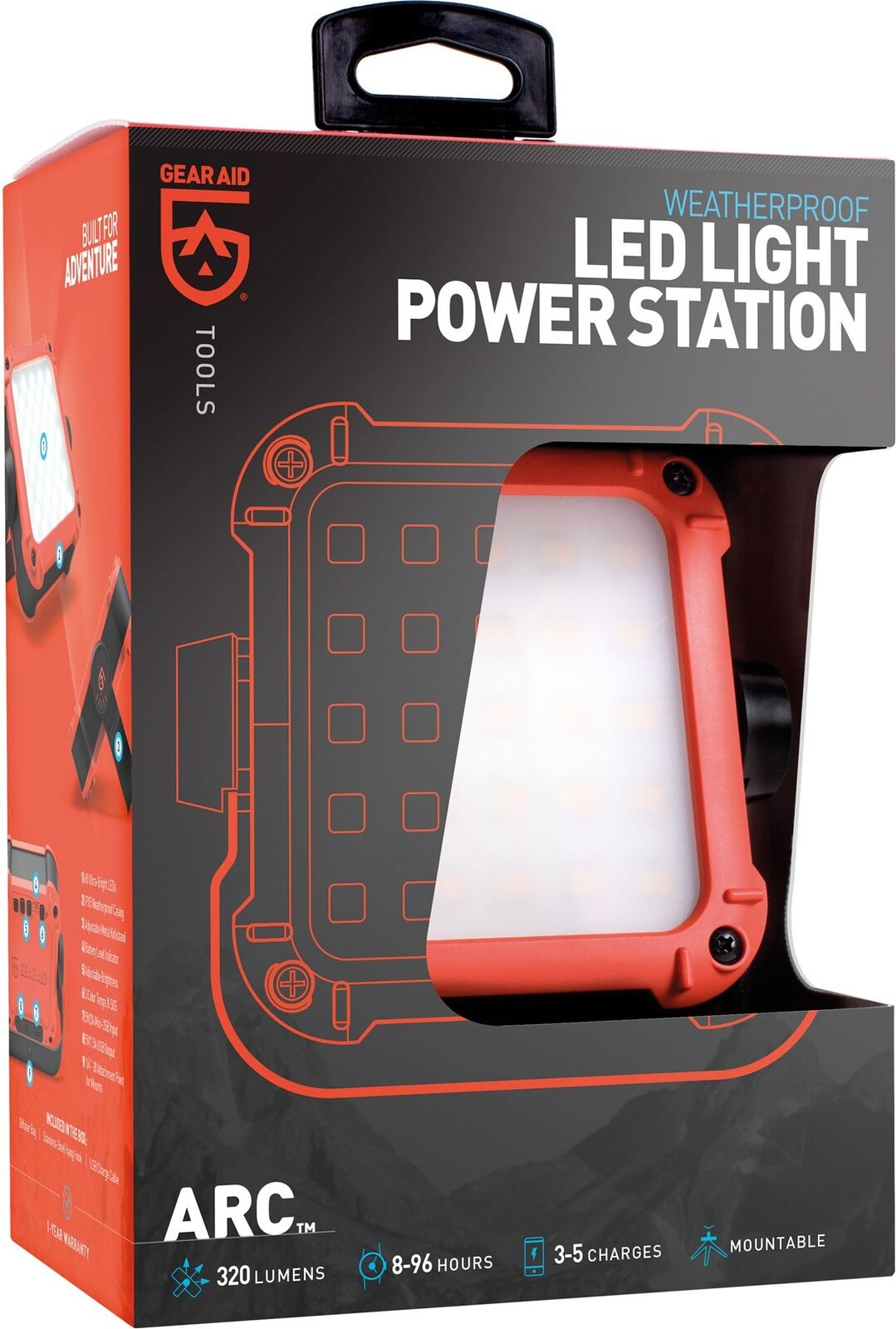 McNett Gear Aid Arco RICARICABILI Light & POWER STATIONLeeda