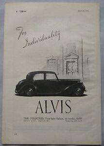 1946-Alvis-Fourteen-Four-Light-Saloon-Original-advert-No-4