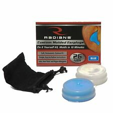 Easy do-it-yourself Kit Molds in 10 minutes Radians Custom Molded Earplugs Blue