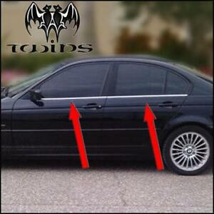 ampia selezione di design qualità stabile davvero economico Dettagli su Strisce cromate sotto finestrini BMW Serie 3 E46 raschiavetri  profili cromati
