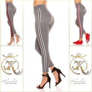 jetzt kaufen komplettes Angebot an Artikeln 100% Qualitätsgarantie Details zu Damen Leggings Karo Leggings Kontrasstreifen Leggins Jeggings  Trendy Gr XL XXL