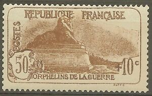FRANCE-STAMP-TIMBRE-230-034-ORPHELINS-LION-DE-BELFORT-50c-10c-034-NEUF-xx-LUXE-B606