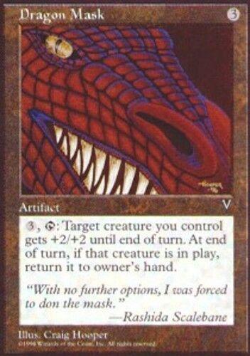 4x Dragon Mask MTG Visions NM Magic Regular