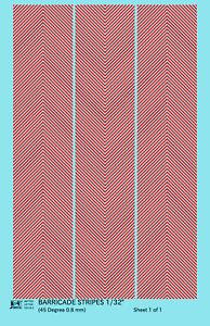 K4 HO Decals Silver 1//32 Inch Stripes Set