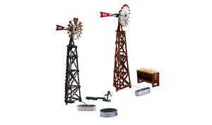 Woodland-Scenics-N-PF5213-Windmills-Pre-Fab-Building-Kit-New