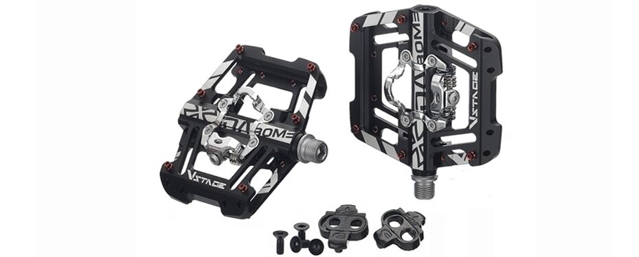 DA BOMB V-STAGE MTB Double side clip-in, flat pedal, tension adjustable 3 color