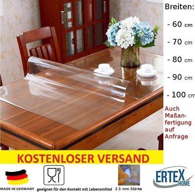 Tischfolie Tischdecke Schutzfolie Tischschutz Folie transparent 2.5 mm B WARE | eBay
