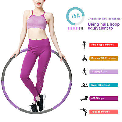 collapsible 26lbs weighted hula hoop fitness padded abs