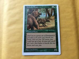 Details about Grizzly Bears Pro-Tour Stamped Slight Miscut Rarity Misprint  MTG Magic 5th Ed