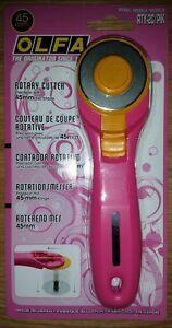 Olfa-45mm-Cortador-Rotatorio-RTY-2C-PIK-coser-cuero-de-tela-del-edredon-Recortes-Papel-Nuevo