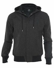 Air Jordan Wool Varsity Black Anthracite Hoodie Jacket 637881-032 Mens Size XL