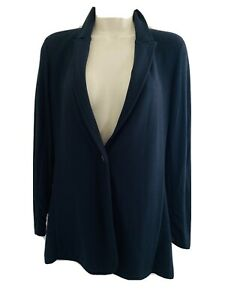 THEORY WOMENS BLACK MODAL RUCHED SLEEVE 1 BUTTON SOFT BLAZER JACKET SIZE SMALL