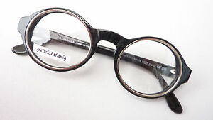 Beauty & Gesundheit Brille Extrem Gestell Kunststoff Rand Rund Schwarz Silber Luxusmarke Idc Size M