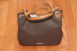 aa09f7796477 Image is loading NWT-Michael-Kors-Fulton-Large-Signature-Charm-Hobo-