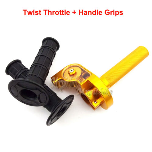 Twist Throttle+Handle Grips For SSR Thumpstar YCF XR CRF 50 KLX SSR TTR Pit Bike