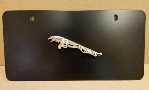 JAGUAR BLACK POWDER COAT LICENSE PLATE C2A1180