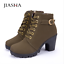 New Autumn Winter Women Boots High Quality Solid  Fashion high heels Boots 2017