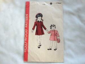 1940's Hollywood Girls Coat Pattern Size 4 New