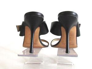 Women-039-s-Shoes-Sandals-Heels-Designer-Jimmy-Choo-Black-Leather-Sandals-8-5-M