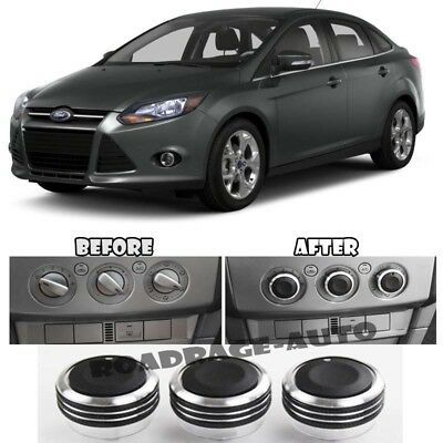 Color : Black N A 3PCS Air Conditioning Heat Control Switch Knob AC Knob For Ford Focus 2 MK2 Focus 3 MK3 Sedan Hatchback Mondeo For cars