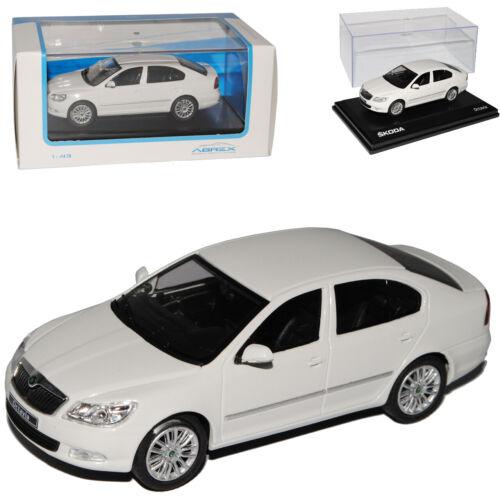 Skoda Octavia Limousine 2 ii Ab 2008 012e Facelift Candy Weiss 1//43 Abrex Modell