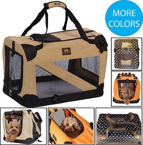 Pliable Avec Fermeture éclair 360 ° Vista Vue Deluxe Pet Dog Crate House-afficher Le Titre D'origine
