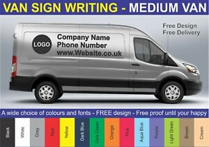 55115f30ce MEDIUM VAN - VEHICLE SIGN WRITING VINYL LETTERING   LOGO - STICKERS ...